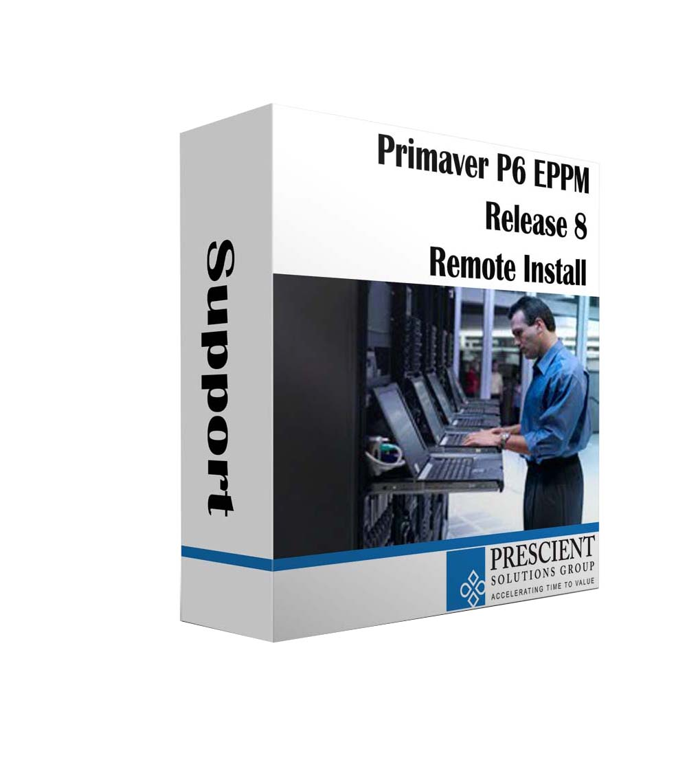 P6 EPPM Users Workstations Remotely Installed Online. Primavera Software Installation Service.