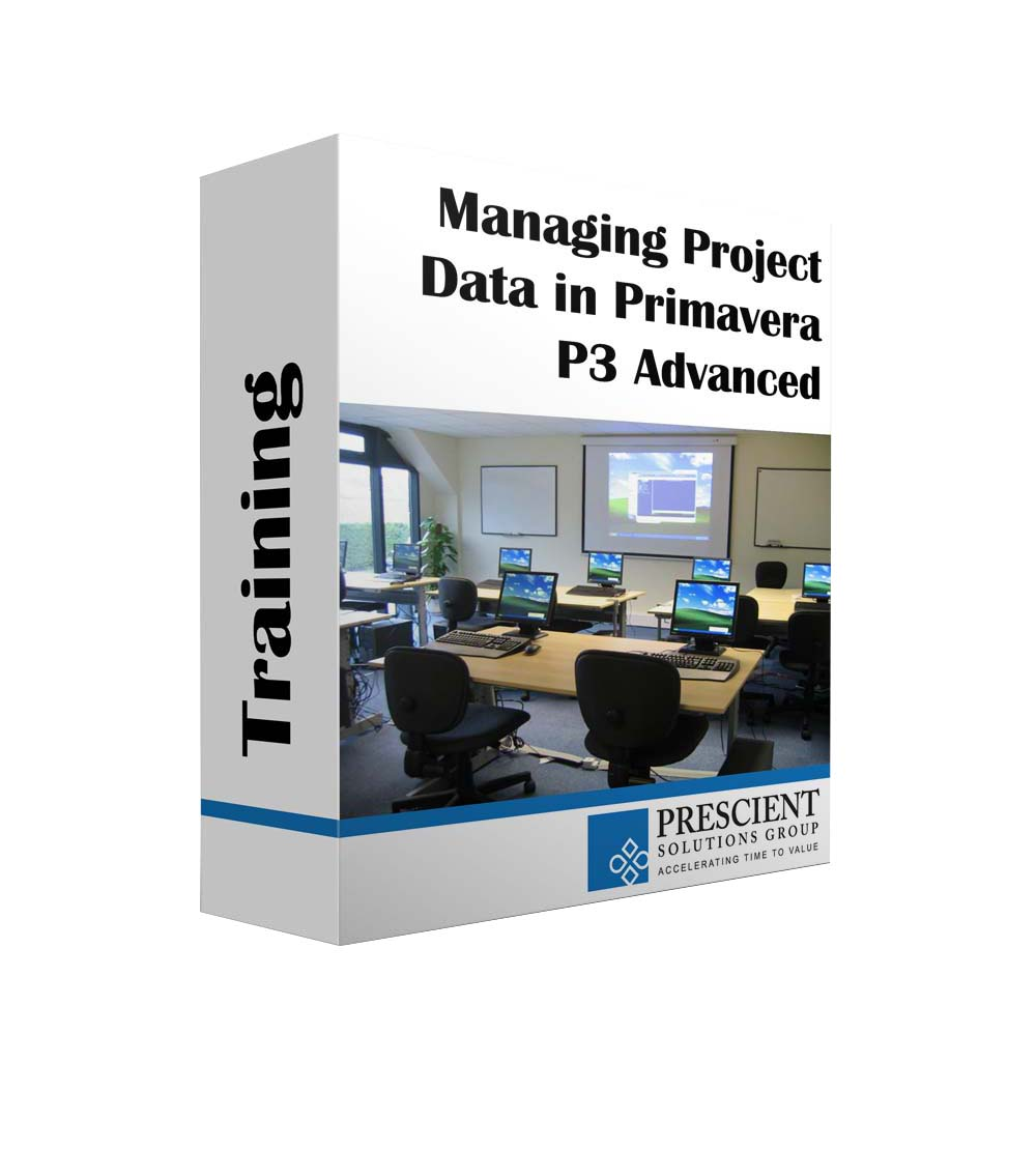 Managing Project Data in Primavera P3 Advanced Course